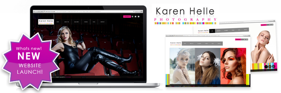 New website revamp for www.karenhelle.com | Logo rebrand