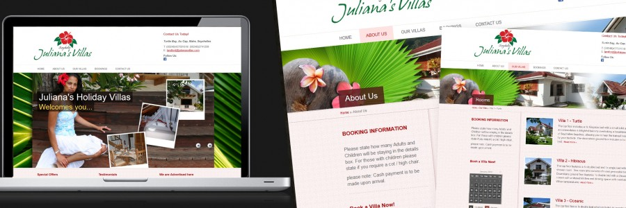 Juliana Villas - Seychelles: Brand & Website Design