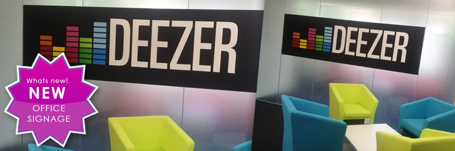 New Deezer office signage