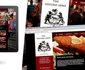 The Oxford Arms Camden | Website Design